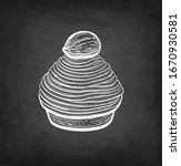 mont blanc dessert with... | Shutterstock .eps vector #1670930581