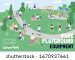 park playground equipment... | Shutterstock .eps vector #1670937661