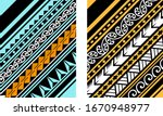polynesian motif background... | Shutterstock .eps vector #1670948977