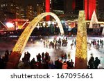 Stock photo toronto november nathan phillips square after the cavalcade of lights on november in 167095661