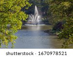 Fountain At The Apenheul Zoo...