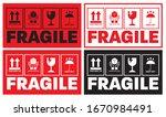 fragile sticker template for...   Shutterstock .eps vector #1670984491