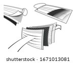 surgical mask protection filter ... | Shutterstock .eps vector #1671013081