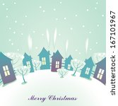 christmas card greeting | Shutterstock .eps vector #167101967