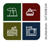 refinery simple icons set.... | Shutterstock .eps vector #1671038134