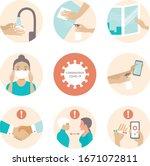 2019 ncov covid 19 virus... | Shutterstock .eps vector #1671072811