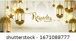 ramadan kareem luxurious... | Shutterstock .eps vector #1671088777