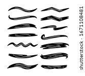 black brush stroke vector set | Shutterstock .eps vector #1671108481