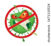 stop coronavirus cartoon evil...   Shutterstock .eps vector #1671110524