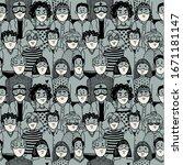 epidemic seamless pattern....   Shutterstock .eps vector #1671181147