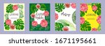 set of elegant brochure  card ... | Shutterstock .eps vector #1671195661