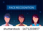 facial recognition technology ... | Shutterstock .eps vector #1671203857
