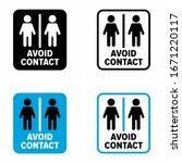 """avoid contact"" keep distance... | Shutterstock .eps vector #1671220117"