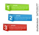 set of vector color folded... | Shutterstock .eps vector #167123177