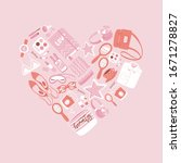 girls accessories in heart...   Shutterstock .eps vector #1671278827