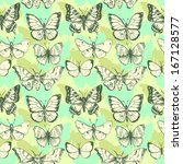 vector seamless pattern of... | Shutterstock .eps vector #167128577