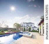 exterior of villa | Shutterstock . vector #167130551