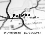 Palatka. Florida. USA on a map