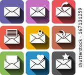 vector design flat icons for... | Shutterstock .eps vector #167131259