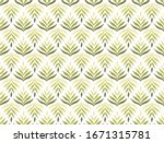 trendy floral seamless pattern. ... | Shutterstock .eps vector #1671315781