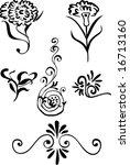 vegetative element of design.... | Shutterstock .eps vector #16713160