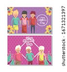 happy mothers day card with...   Shutterstock .eps vector #1671321397