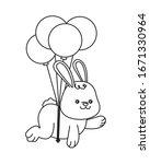 cute little rabbit with... | Shutterstock .eps vector #1671330964