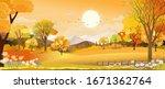 Vector Autumn Landscape With...