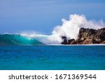 Beautiful Waves Crashing On...