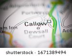 Small photo of Callow. United Kingdom on a geography map