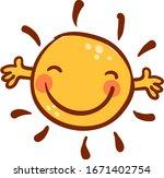 happy sun  illustration  vector ...   Shutterstock .eps vector #1671402754