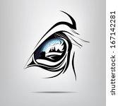 Symbol Equine Eye. Vector...