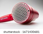 Beautiful Hair Dryer Panasonic NA9A with Honeycomb pattern air intake and perfect painting about semi matte pearl red for wonderful touch feeling and assemble quality.