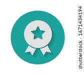 achievement badge. certificate... | Shutterstock .eps vector #1671434194