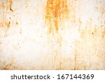 industrial aged rusted metal ... | Shutterstock . vector #167144369