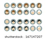 men  woman aging. generation... | Shutterstock .eps vector #167147207