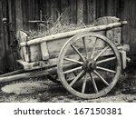 Old Cart At A Farm