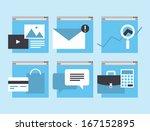 modern flat icons vector... | Shutterstock .eps vector #167152895