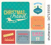 christmas badge  tags  labels ... | Shutterstock .eps vector #167155535