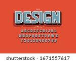 vector of stylized modern font...   Shutterstock .eps vector #1671557617