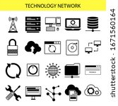 technology network concept...