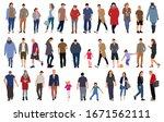 cartoon men and women walking... | Shutterstock .eps vector #1671562111