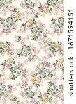 flowers summer romant c pattern ...   Shutterstock . vector #1671594151