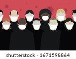coronavirus covid 19 world... | Shutterstock .eps vector #1671598864