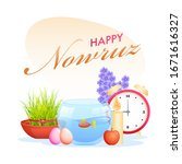 happy nowruz celebration poster ... | Shutterstock .eps vector #1671616327