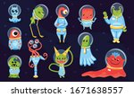 kids game collection of colored ... | Shutterstock .eps vector #1671638557
