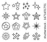 Star Icons Set On White...