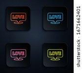 color neon line speech bubble... | Shutterstock .eps vector #1671662401