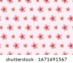 Watercolor Sakura Seamless...