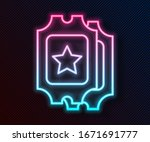 glowing neon line cinema ticket ... | Shutterstock .eps vector #1671691777
